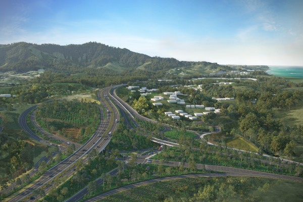 EIS Artist Impression - Korora Hill interchange