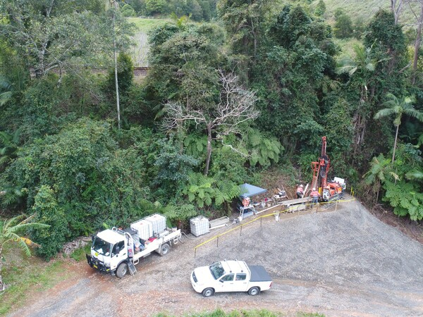 Coffs Harbour bypass - drilling investigations near North Coast rail line