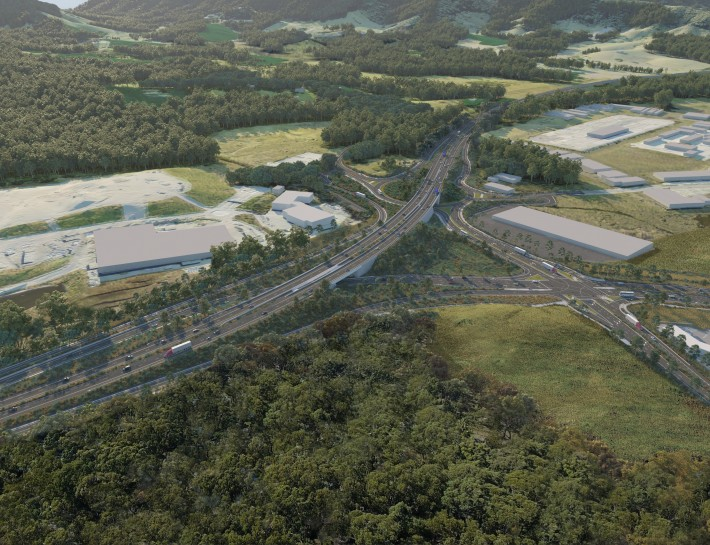 Artist impression of the Englands Road interchange